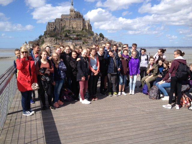Vor dem Mont Saint Michel (Foto: Lügger/SMMP)