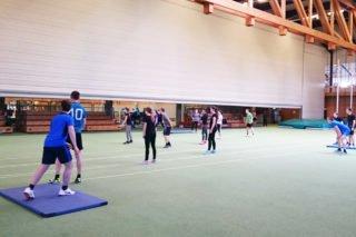 Baseballtraining unter Anleitung eines Bundesligaspielers. (Foto: B.Scholz/SMMP)